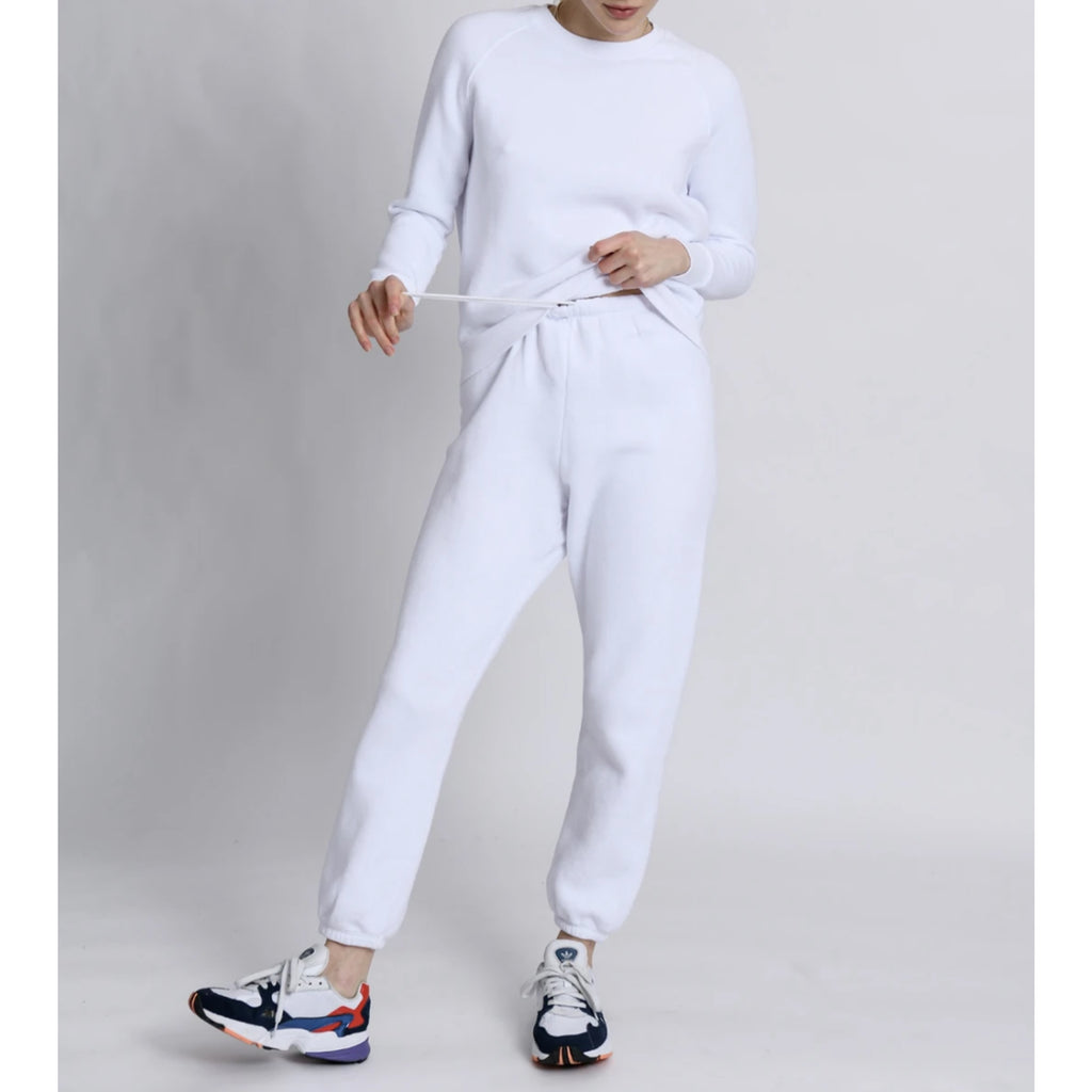 Perfect White Tee Stevie Easy Sweatpants in White