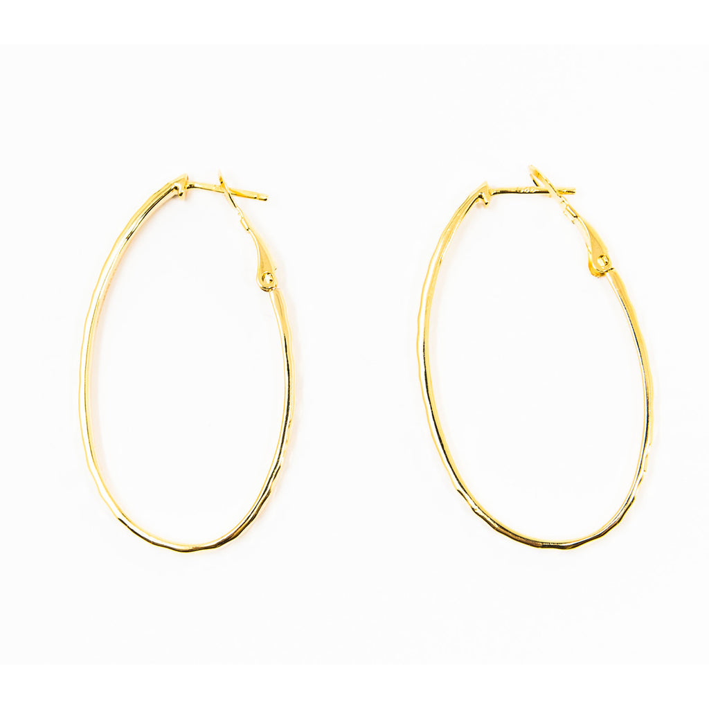 Suite201 Oval Hoops in Gold