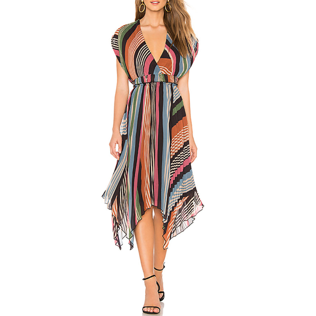 Saylor Lia Pleated Maxi Dress