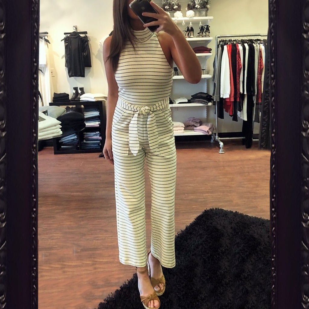 Saylor Ilona Striped Jumpsuit