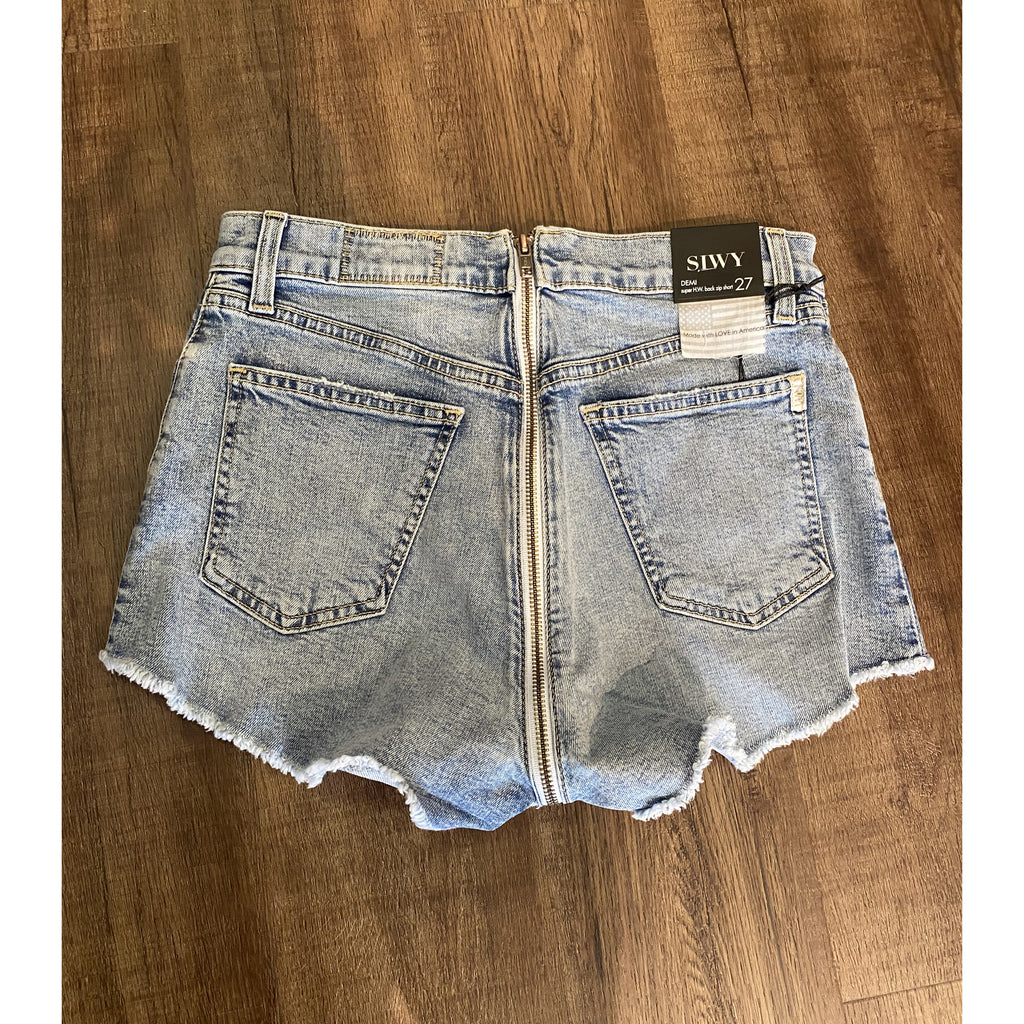 Siwy Denim Demi High Waisted Cut Off Short in Fool For Losing