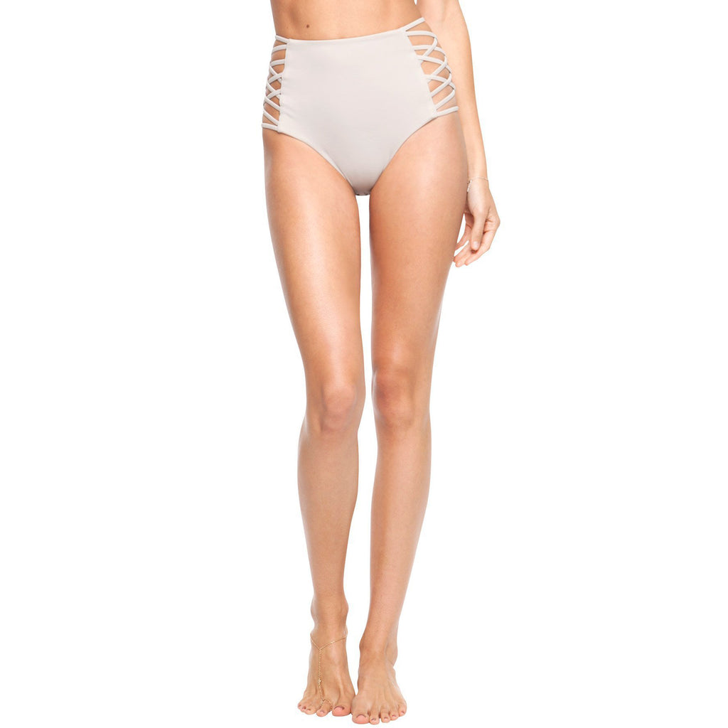 Tori Praver Damia High Waist Bottom in Tan