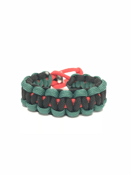 African American Flag Adjustable Paracord Survival Jewelry Bracelet by Tru550