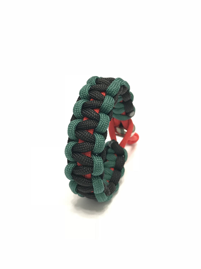 African American Flag Adjustable Paracord Jewelry Bracelet by Tru550