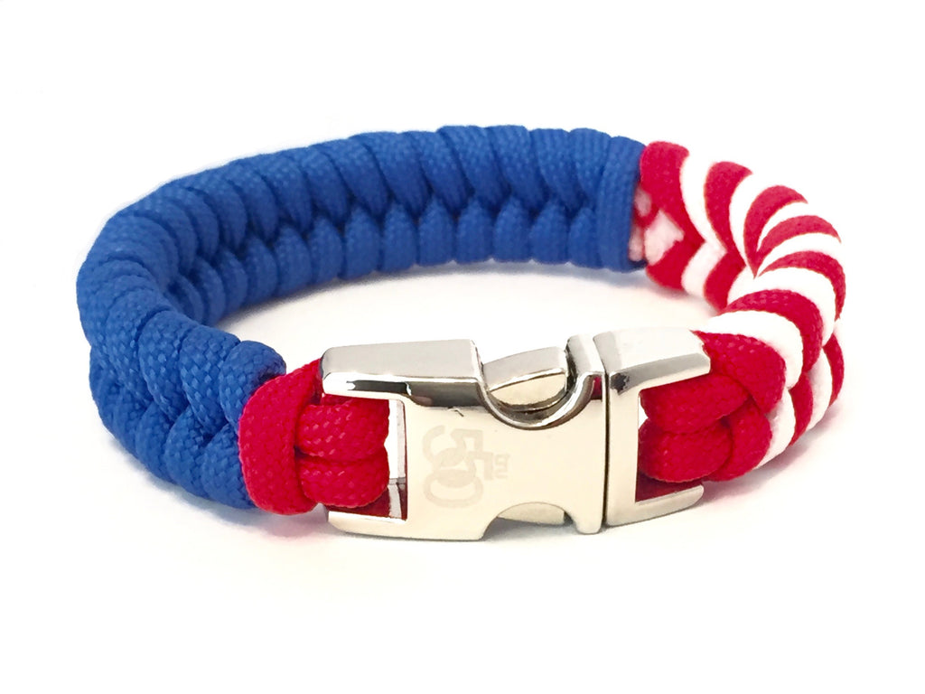 Tru550 Mens Jewelry American Flag Paracord Survival Bracelet