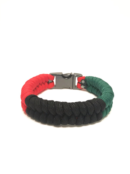 African American Flag Mens & Women Paracord Survival Bracelet Jewelry