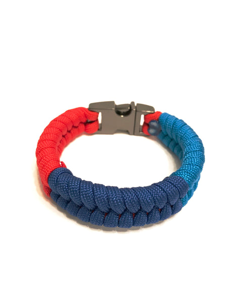 BMW M Series Three Colored Mens & Women Paracord Survival Bracelet