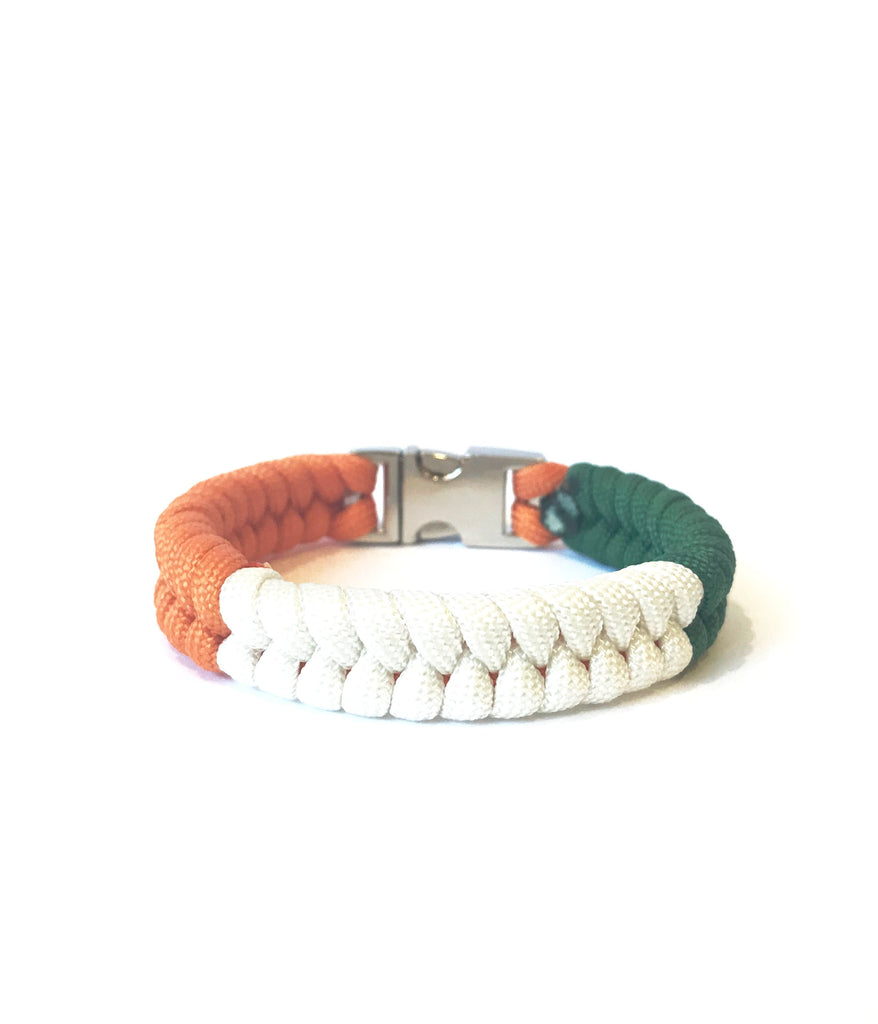 Irish Flag Mens & Women Paracord Bracelet Jewelry