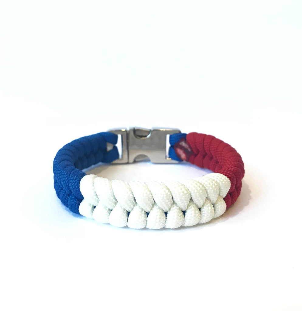 Flag of France Mens & Women Paracord Bracelet Jewelry