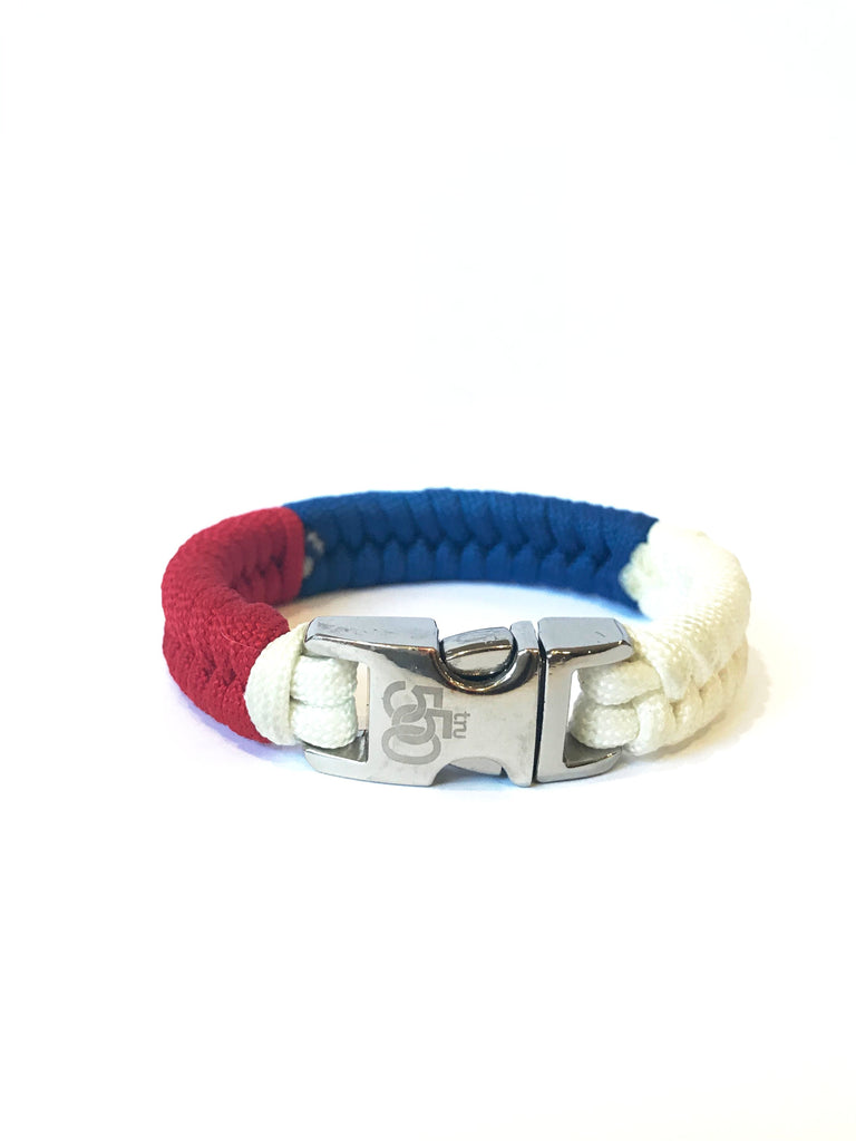 Flag of Russia Mens & Women Paracord Survival Bracelet Jewelry
