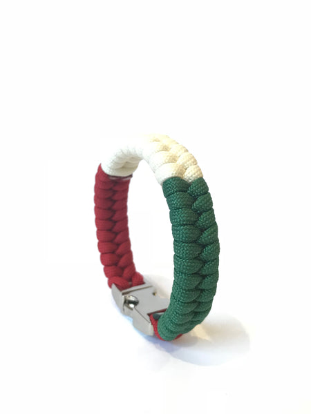 Italy Flag Mens & Women Paracord Survival Bracelet Jewelry