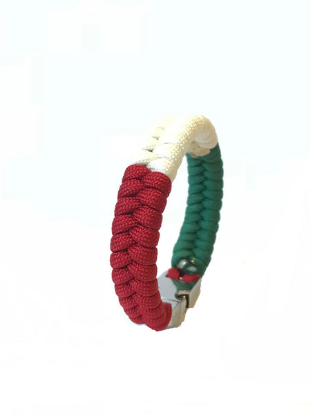 Italy Flag Mens & Women Paracord Survival Jewelry