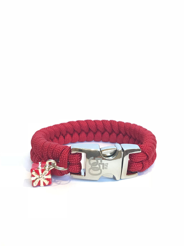 Valentine Red Box Women Paracord Survival Bracelet Jewelry