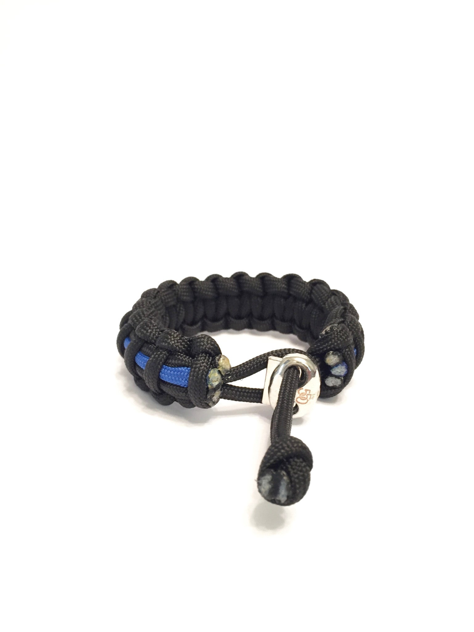 Thin Blue Line NYPD Mens Jewelry Paracord Survival Jewelry ...