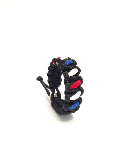 Tru550 Barber Pole Mens Jewelry Paracord Survival Bracelet