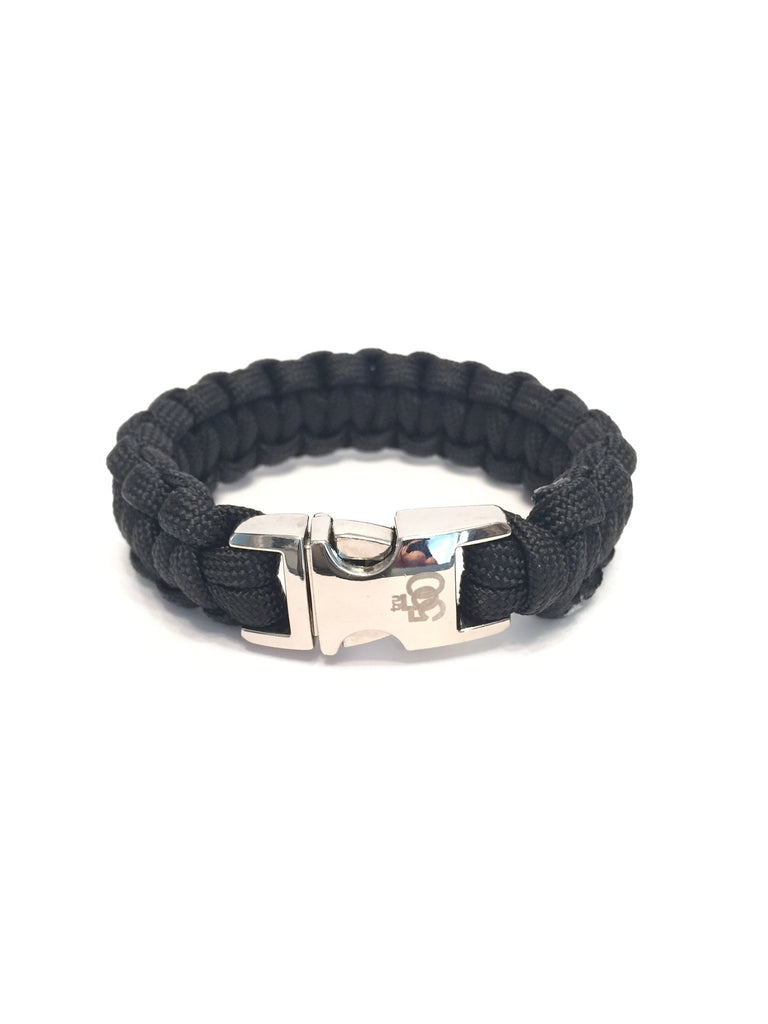 Mens Jewelry and Women Jewelry All Black Paracord Survival Bracelet