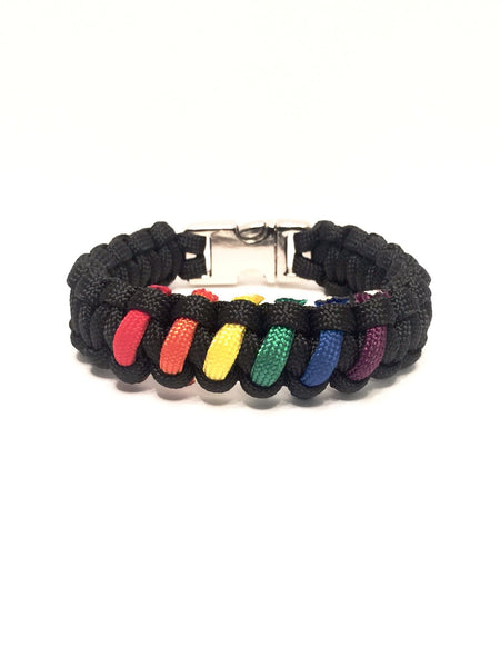 LGBT Gay Pride Rainbow Limited Edition Jewelry Paracord Survival Bracelet