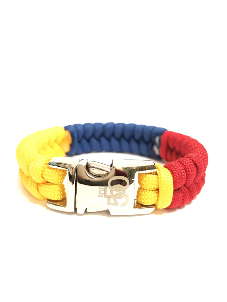 Flag of Colombia Mens & Women Paracord Survival Bracelet Jewelry