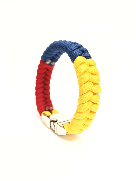 Flag of Colombia Mens & Women Paracord Bracelet Jewelry