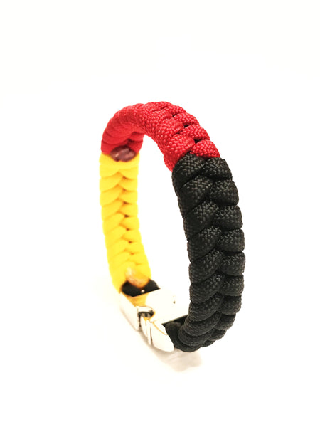 Flag of Germany M Series Mens & Women Paracord Bracelet