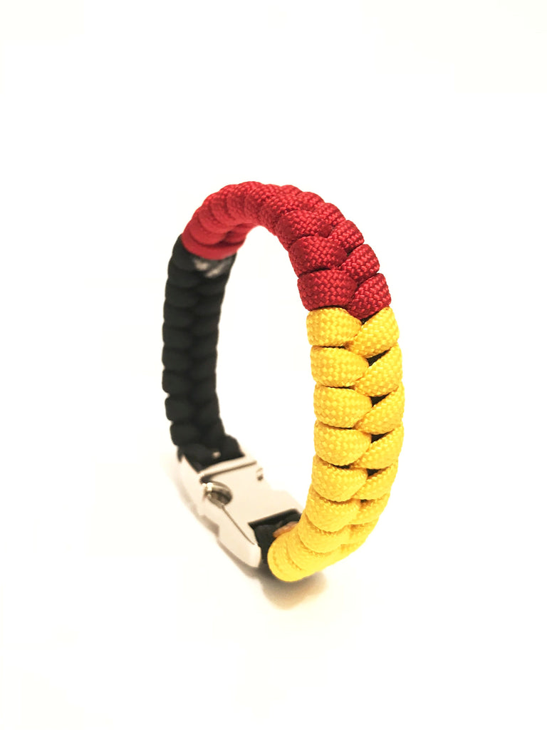 Flag of Germany M Series Mens & Women Paracord Survival Bracelet