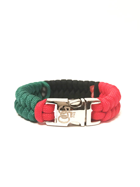 African American Flag Mens & Women Paracord Bracelet Jewelry