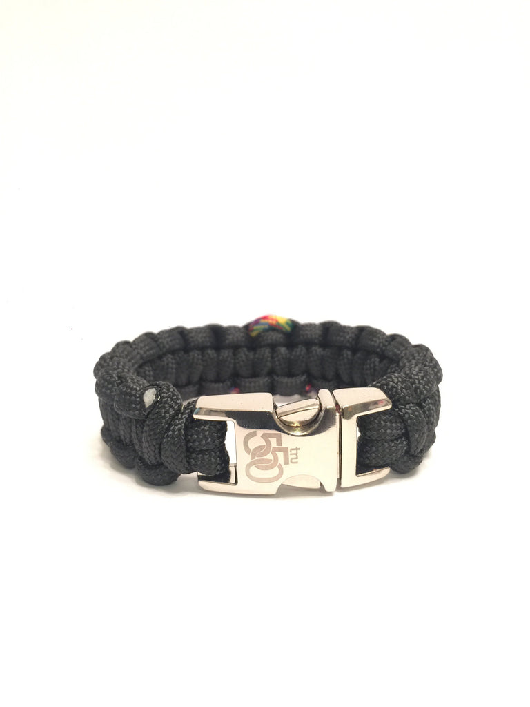 Autism Awareness Black Paracord Survival Jewelry Bracelet