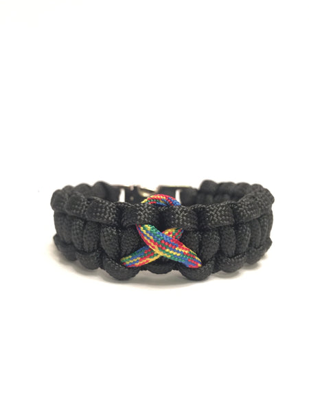 Autism Awareness Black Paracord Bracelet