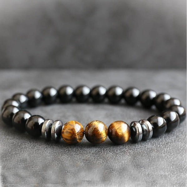 Natural Hematite Lava Stone Beads Bracelets Men Minimalist Classic Distance Bracelet Fashion Jewelry Gift Male Accessories
