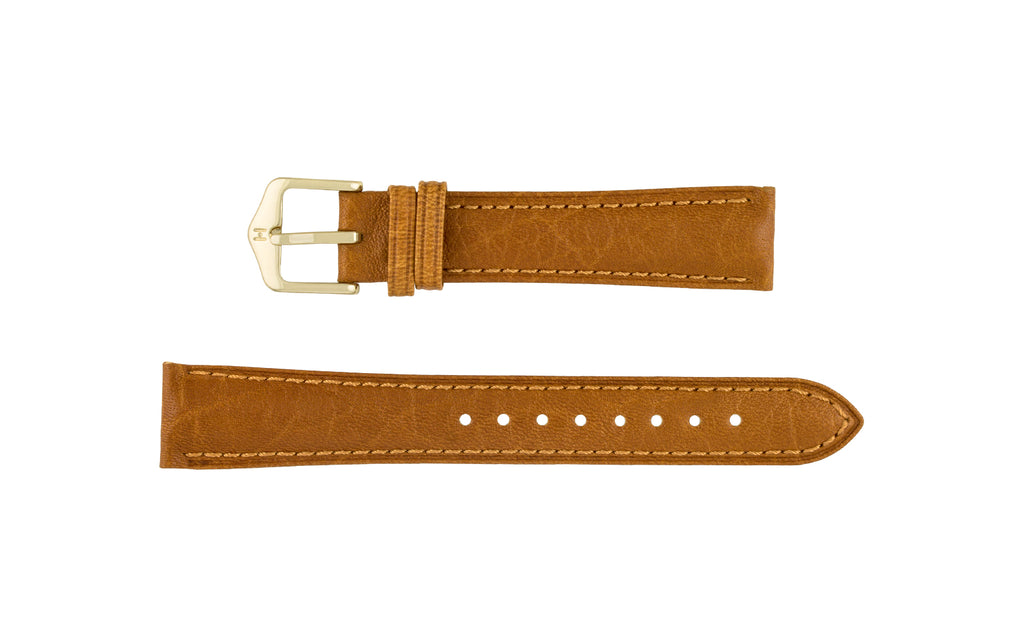 Camelgrain by HIRSCH - Women's Honey Leather Watch Strap