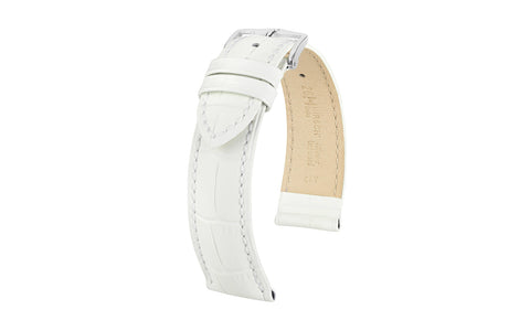 Duke by HIRSCH - Women's White Alligator Grain Leather Watch Strap