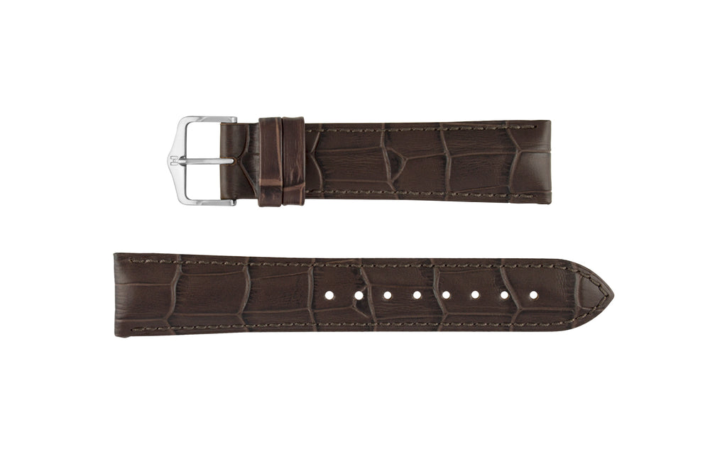 Duke by HIRSCH - Men's Brown Alligator Grain Leather Watch Strap