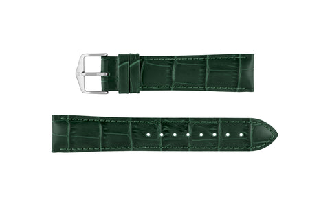 Duke by HIRSCH - Men's Green Alligator Grain Leather Watch Strap