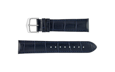 Duke by HIRSCH - Men's Blue Alligator Grain Leather Watch Strap