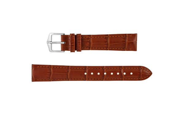 Duke by HIRSCH - Women's Golden Brown Alligator Grain Leather Watch Strap