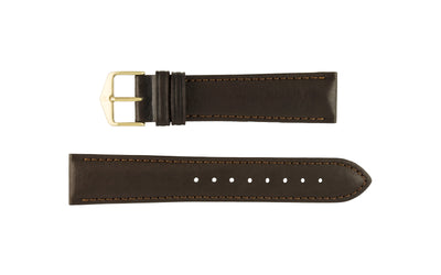 Merino by HIRSCH - Men's Brown Smooth Leather Watch Strap