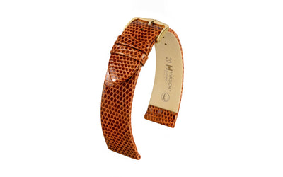 Lizard by HIRSCH - Men's Tan Genuine Lizard Watch Strap