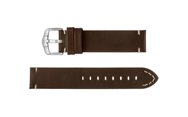 Ranger by HIRSCH - Men's Brown Retro Calfskin Leather Watch Strap