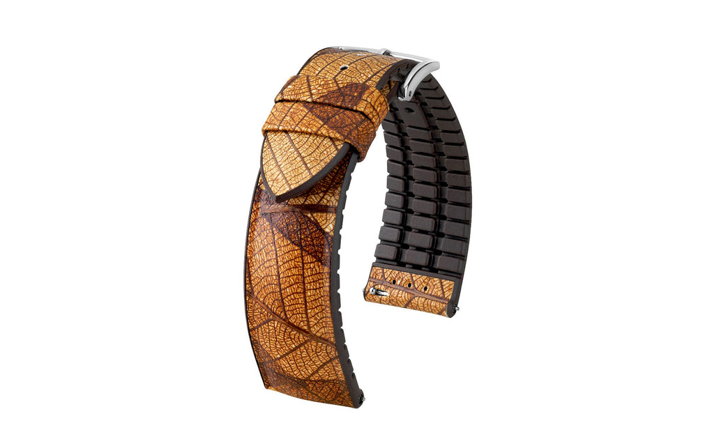 Leaf by HIRSCH - Autumn Brown Vegan Performance Watch Strap