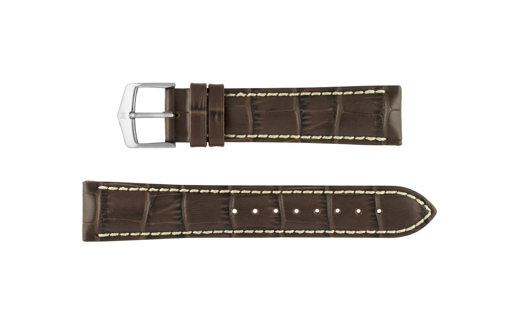 Modena by HIRSCH - Men's Brown Alligator Grain Leather Watch Strap