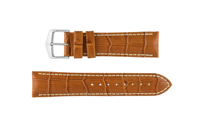 Modena by HIRSCH - Men's Honey Alligator Grain Leather Watch Strap