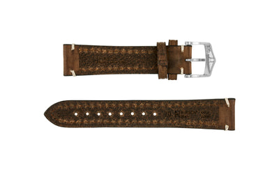 Liberty by HIRSCH - Men's LONG Brown Saddle Leather Watch Strap