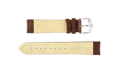 Buffalo by HIRSCH - Men's Brown Textured Leather Watch strap