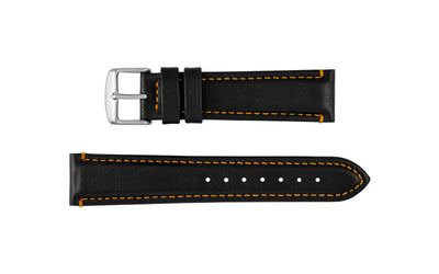 AWB Waterproof Series - Men's Black & Orange Sport Leather Watch Strap AWB023-64