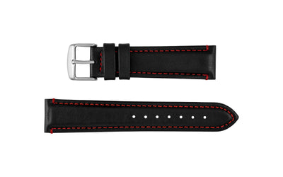 AWB Waterproof Series - Men's Black & Red Sport Leather Watch Strap AWB023-64