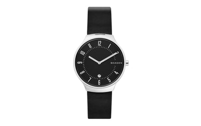 AWB Men's Skagen® Grenen Style Black Genuine Leather Watch Strap AWB05SKA-01