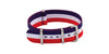 AWB Men's Red/White/Blue NATO Style Nylon Watch Strap AWB597-012