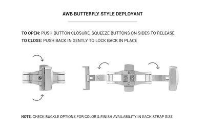 AWB Butterfly Deployant Clasp - Shiny Rose Gold