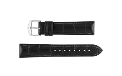 Paul by HIRSCH - Men's Black Alligator Grain Leather Performance Watch Strap