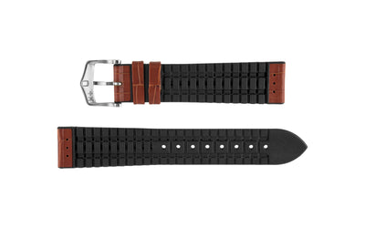 George by HIRSCH - Men's Golden Brown Alligator Grain Leather Performance Watch Strap